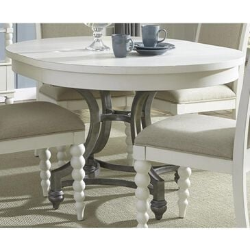 Belle Furnishings Harbor View II Round Dining Table in Linen - Table Only, , large