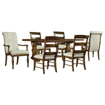 Hooker Furniture Archivist 7-Piece Rectangular Dining Set in Dark Brown, , large