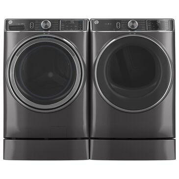 """GE Appliances Laundry 7"""" RightHeight Riser in Diamond Gray, Gray, large"""