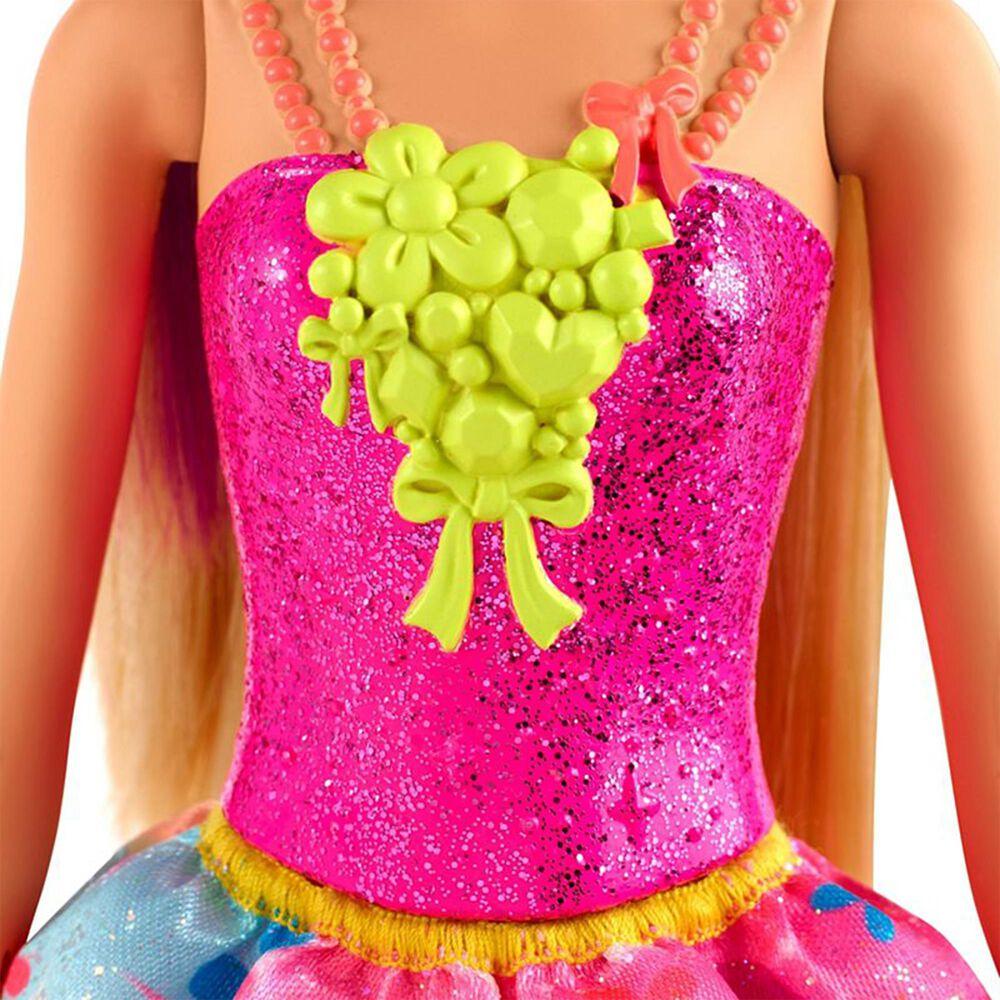 Mattel Barbie Dreamtopia Princess Doll Blonde with Purple Hairstreak, , large