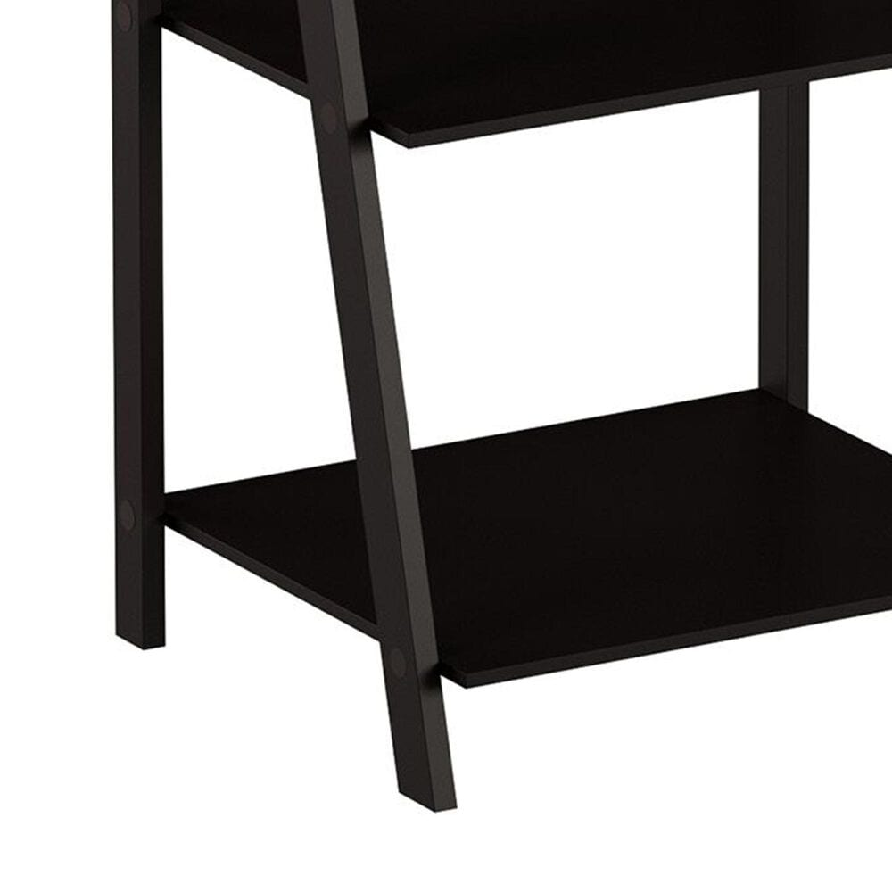 Timberlake Lavish Home 4-Shelf Ladder Bookcase in Black, , large
