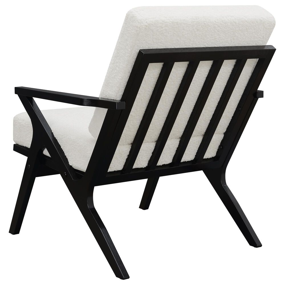 Accentric Approach Chair in White Faux Sheep Skin, , large