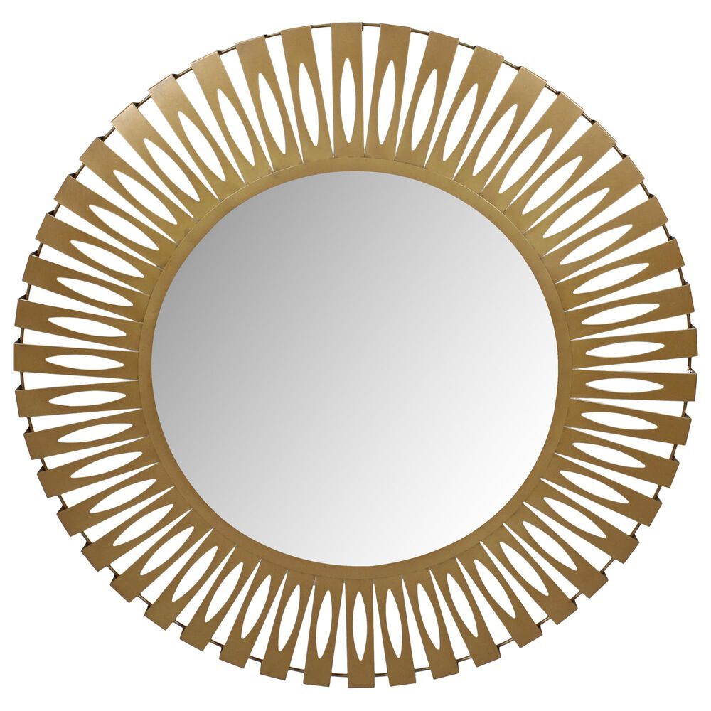 Moe's Home Collection Radiate Mirror in Gold, , large