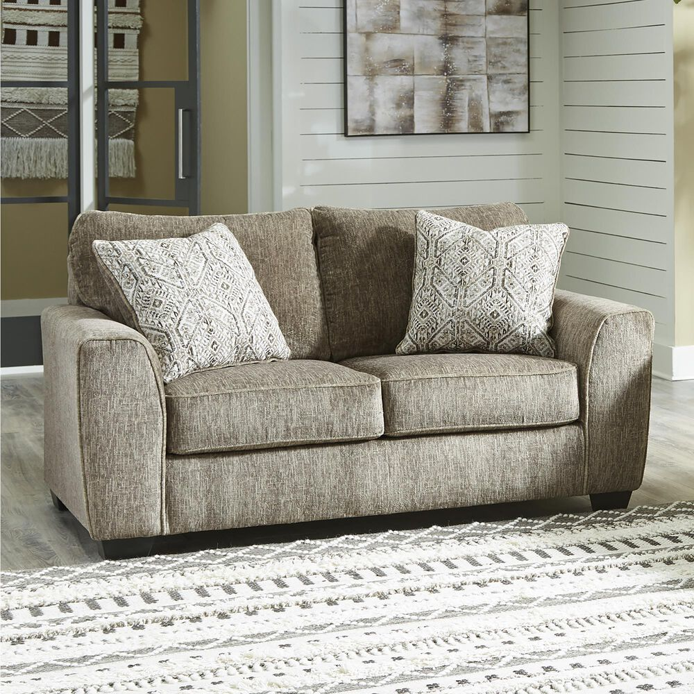 Signature Design by Ashley Olin Stationary Loveseat in Chocolate, , large