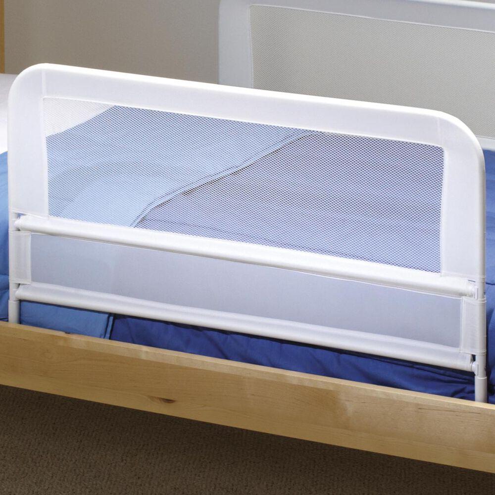 Little Dreamer Children's Mesh Bed Rail in White, , large