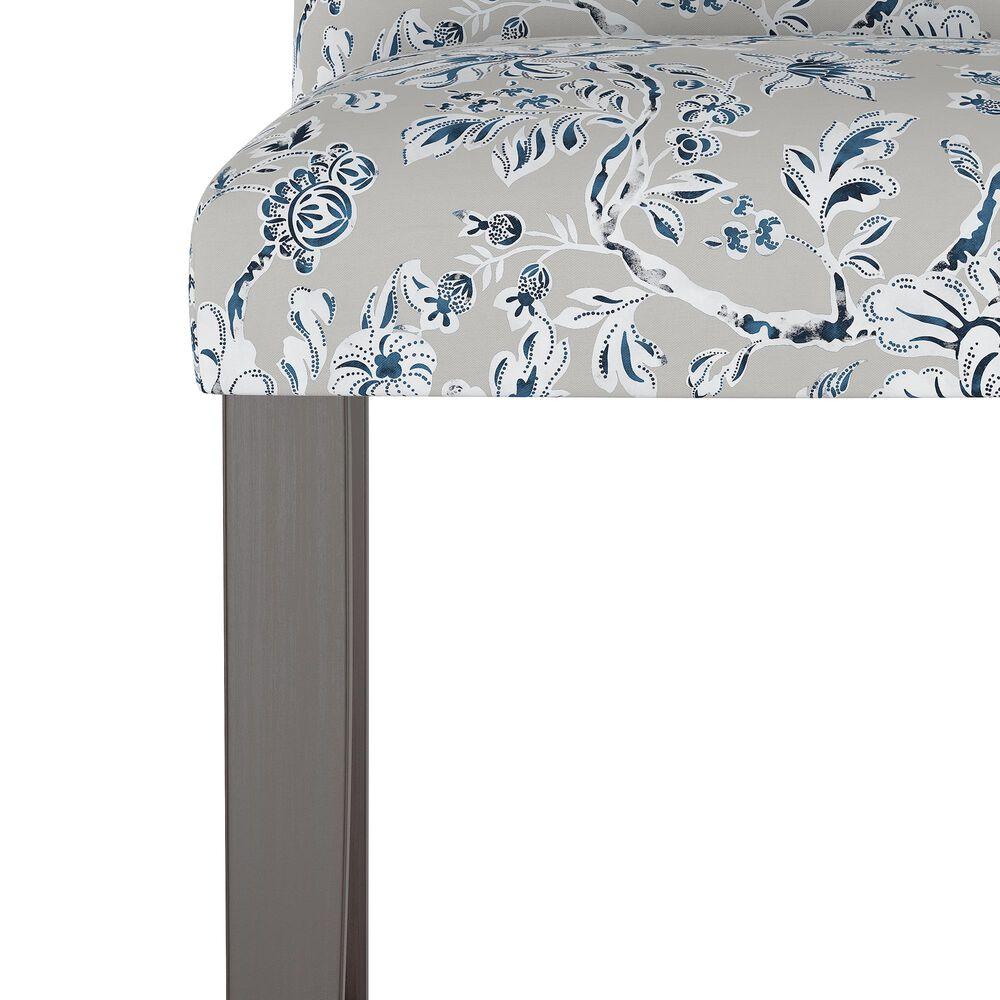 Skyline Furniture Bar stool in Indian Blockprint Grey, , large
