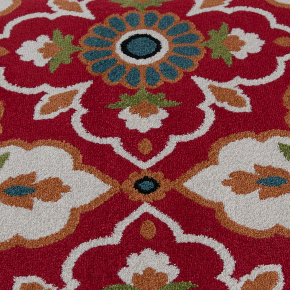 "Central Oriental Terrace Tropic Bluffton 2309ON.084 5' x 7'3"" Coral and Snow Area Rug, , large"