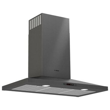 "Bosch 36"" Chimney Wall Hood in Black Stainless Steel, , large"