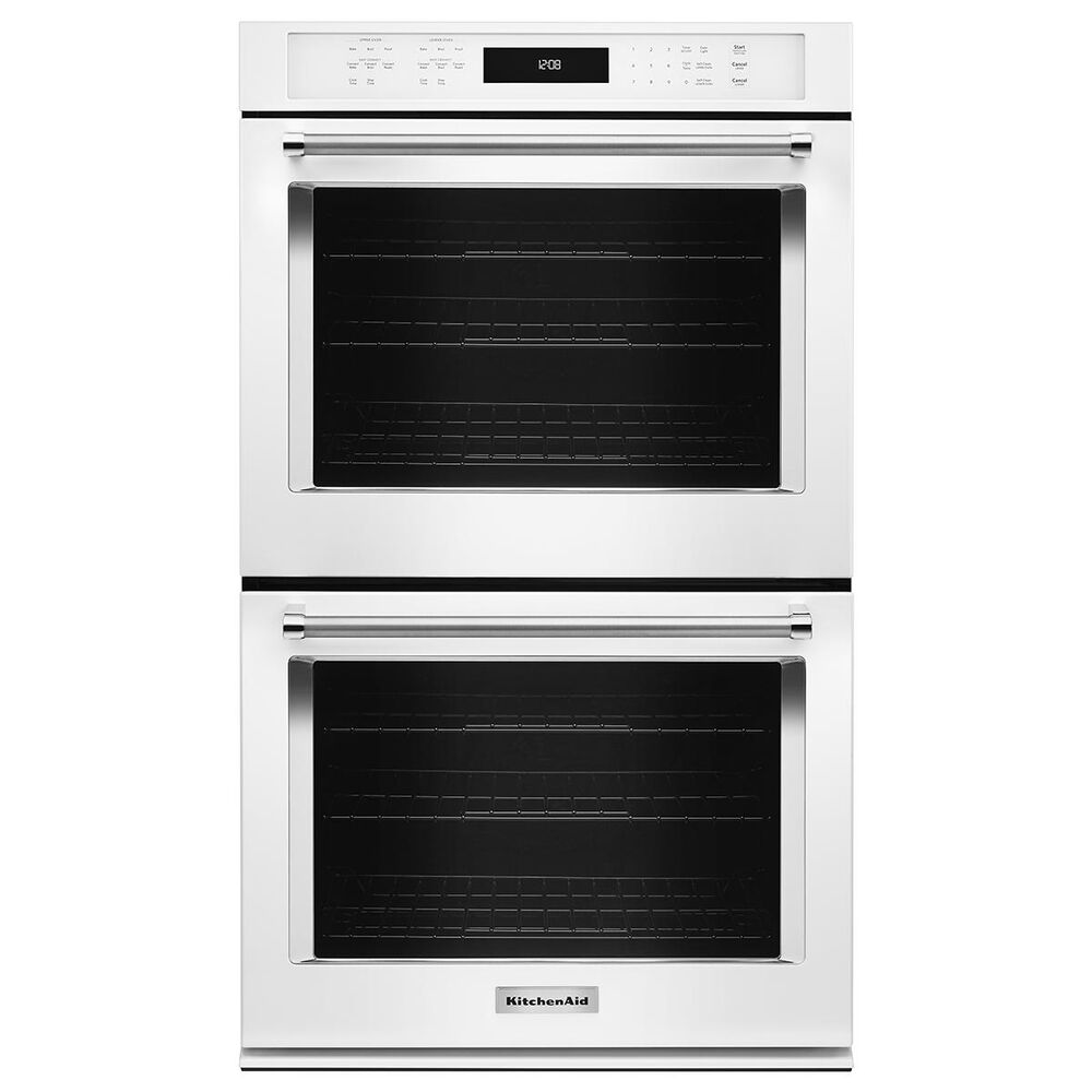 """KitchenAid 27"""" Double Wall Oven with Even-Heat True Convection in White, , large"""