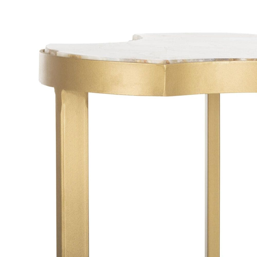 Safavieh Suki Accent Table in White and Gold, , large