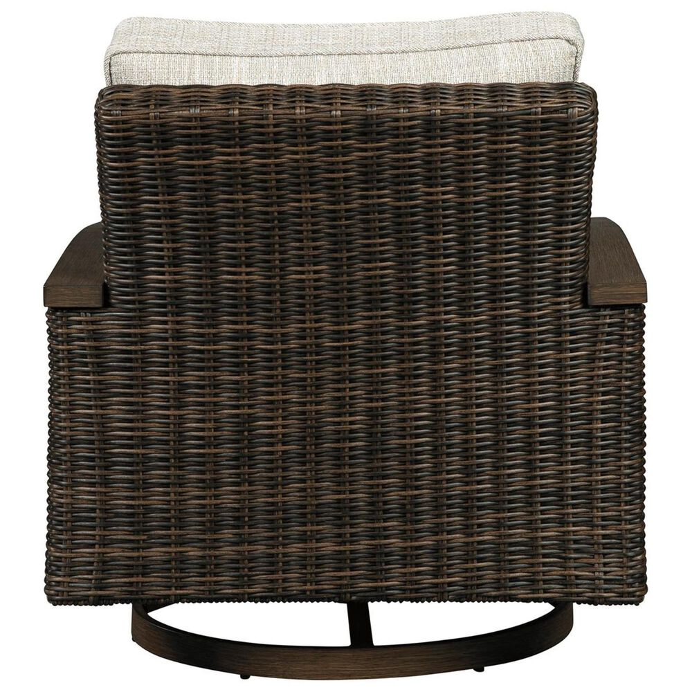 Signature Design by Ashley Paradise Trail Swivel Lounge Chair Set of 2 in Medium Brown, , large