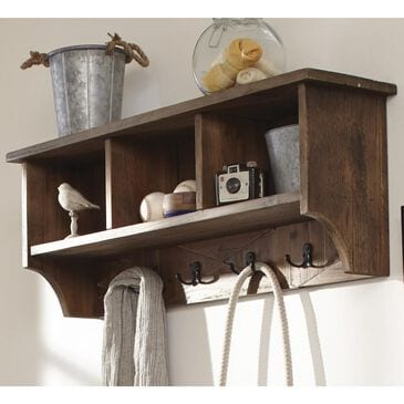 Bolton Furniture Revive Reclaimed Coat Hooks with Storage in Natural, , large