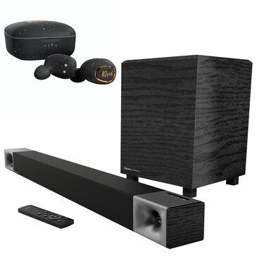 Klipsch Cinema 400W Soundbars and T2 True Wireless Earphones in Black, , large