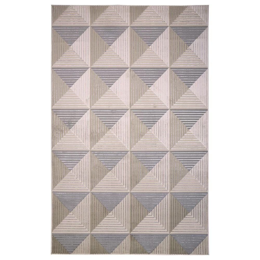 Feizy Rugs Micah 3044F 5' x 8' Beige and Gray Area Rug, , large