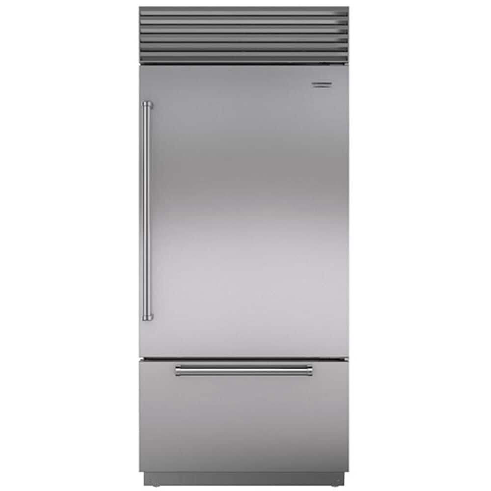 """Roth Distributing Sub-Zero 36"""" Built-In Bottom Freezer Refrigerator Right Hinge with Pro Handle in Stainless Steel, , large"""