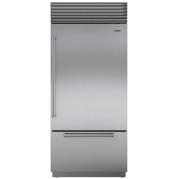 "Roth Distributing Sub-Zero 36"" Built-In Bottom Freezer Refrigerator Right Hinge with Pro Handle in Stainless Steel, , large"