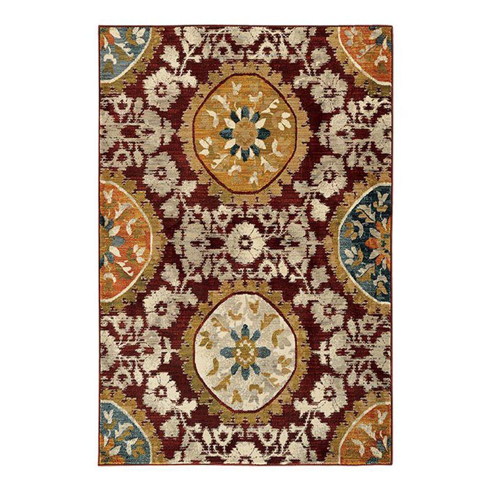 "Oriental Weavers Sedona 6366A 3'10"" x 5'5"" Red Area Rug, , large"