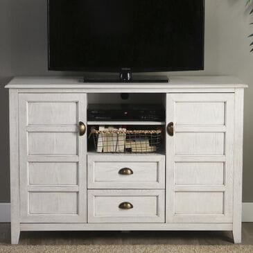"Walker Edison 52"" TV Stand in White Wash, , large"