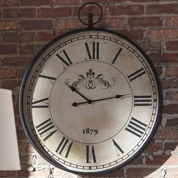 Signature Design by Ashley Augustina Wall Clock In Antique Black, , large