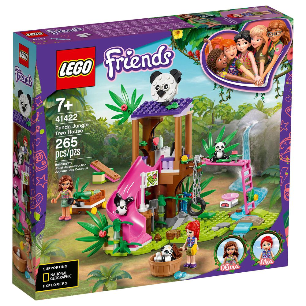 LEGO Friends Panda Jungle Tree House Building Set, , large