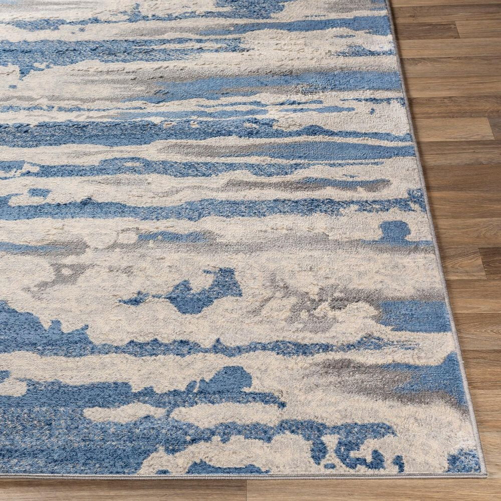 """Surya Monaco MOC-2312 7'9"""" x 10'3"""" Bright Blue and Silver Gray Area Rug, , large"""