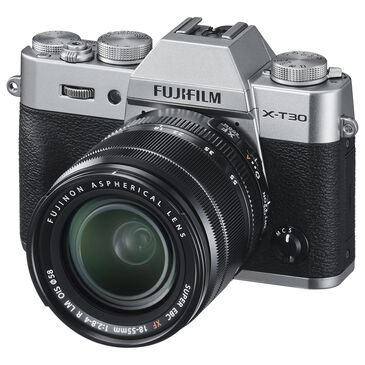 Fujifilm Fujifilm X-T30 Mirrorless Digital Camera with XC15-45mm F3.5-5.6 OIS PZ Lens in Silver, , large