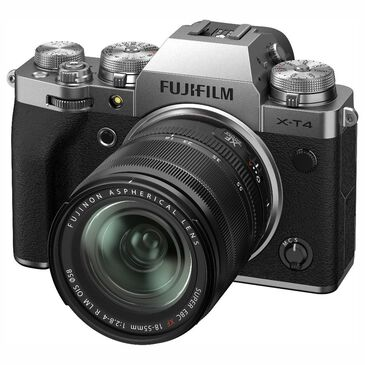 Fujifilm X-T4 Mirrorless Digital Camera with XF18-55mm F2.8-4 R LM OIS Lens in Silver, , large
