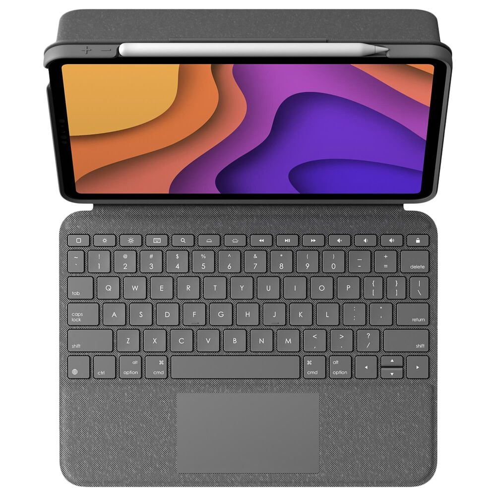 Logitech Folio Touch Backlit Keyboard Case with Trackpad for iPad Air in Oxford Grey, , large