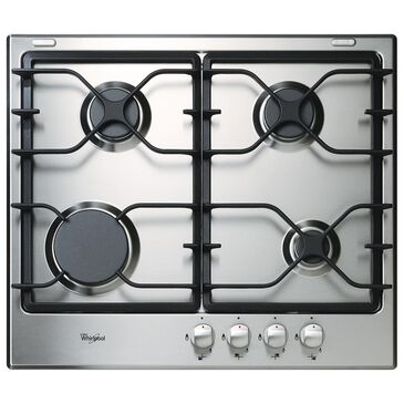 """Whirlpool 24"""" Gas Cooktop with Sealed Burner in Black and Stainless, , large"""
