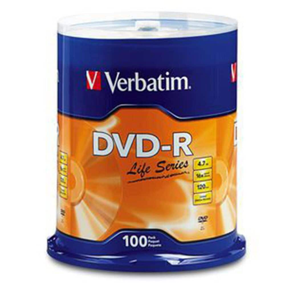 Verbatim DVD-R Life Series 100 Pk, , large