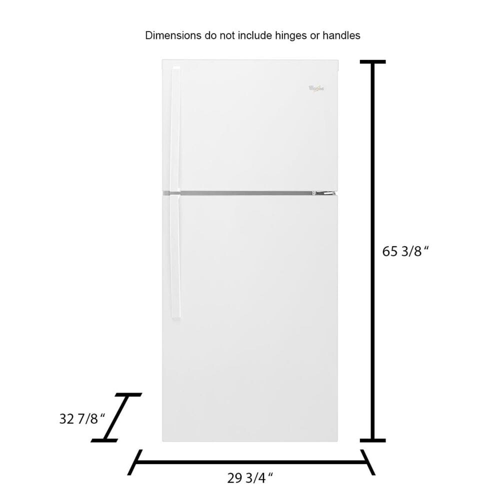 Whirlpool 19.2 Cu. Ft. Top Freezer Refrigerator with LED Interior Lighting in White , , large