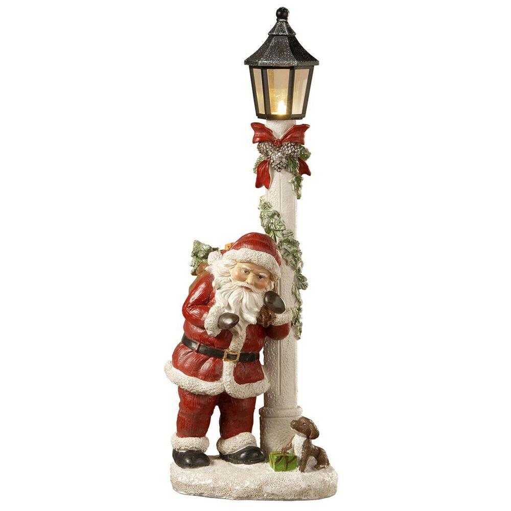 """National Tree 17"""" Santa and Lamppost, , large"""