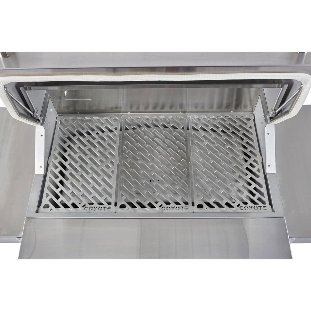 """Coyote Outdoor 36"""" Pellet Freestanding Grill in Stainless Steel, , large"""