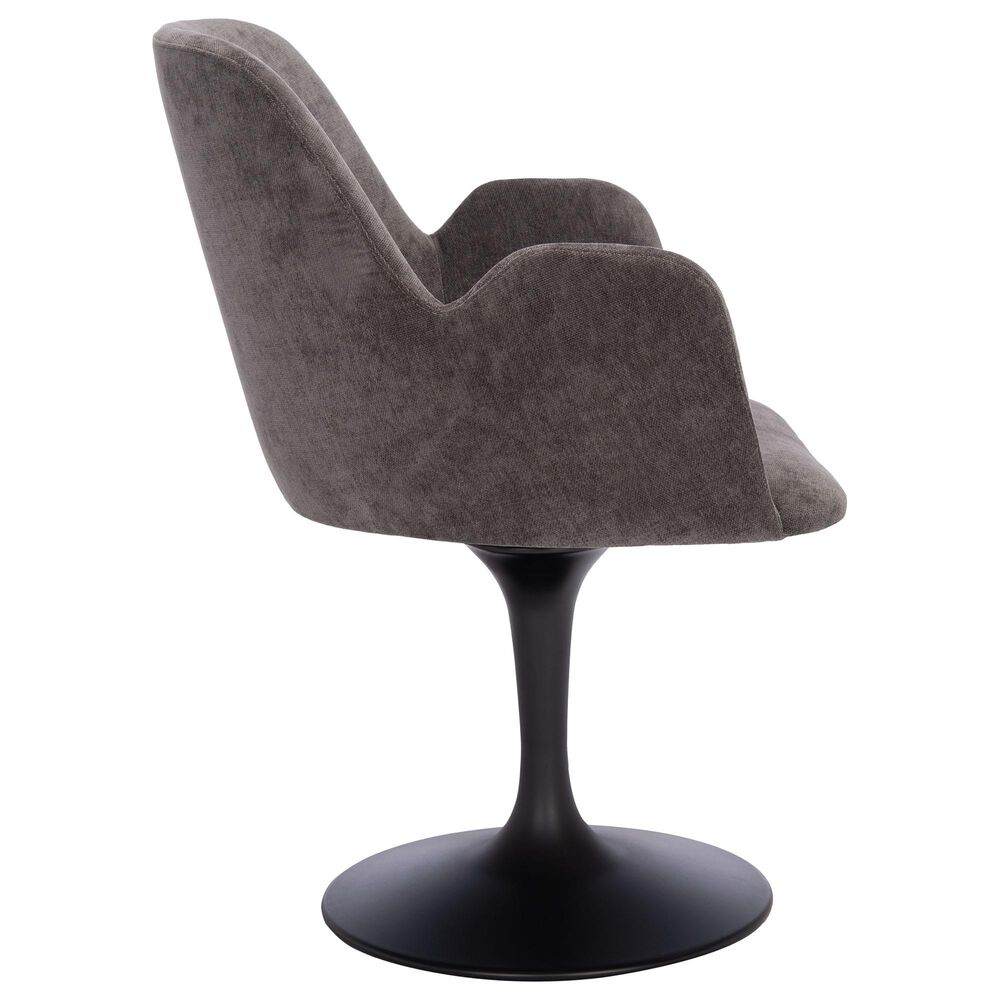 Safavieh Cherith Dining Chair in Anthracite/Black, , large