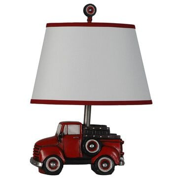 Lamps Per Se Table Lamp and Shade in Red, , large