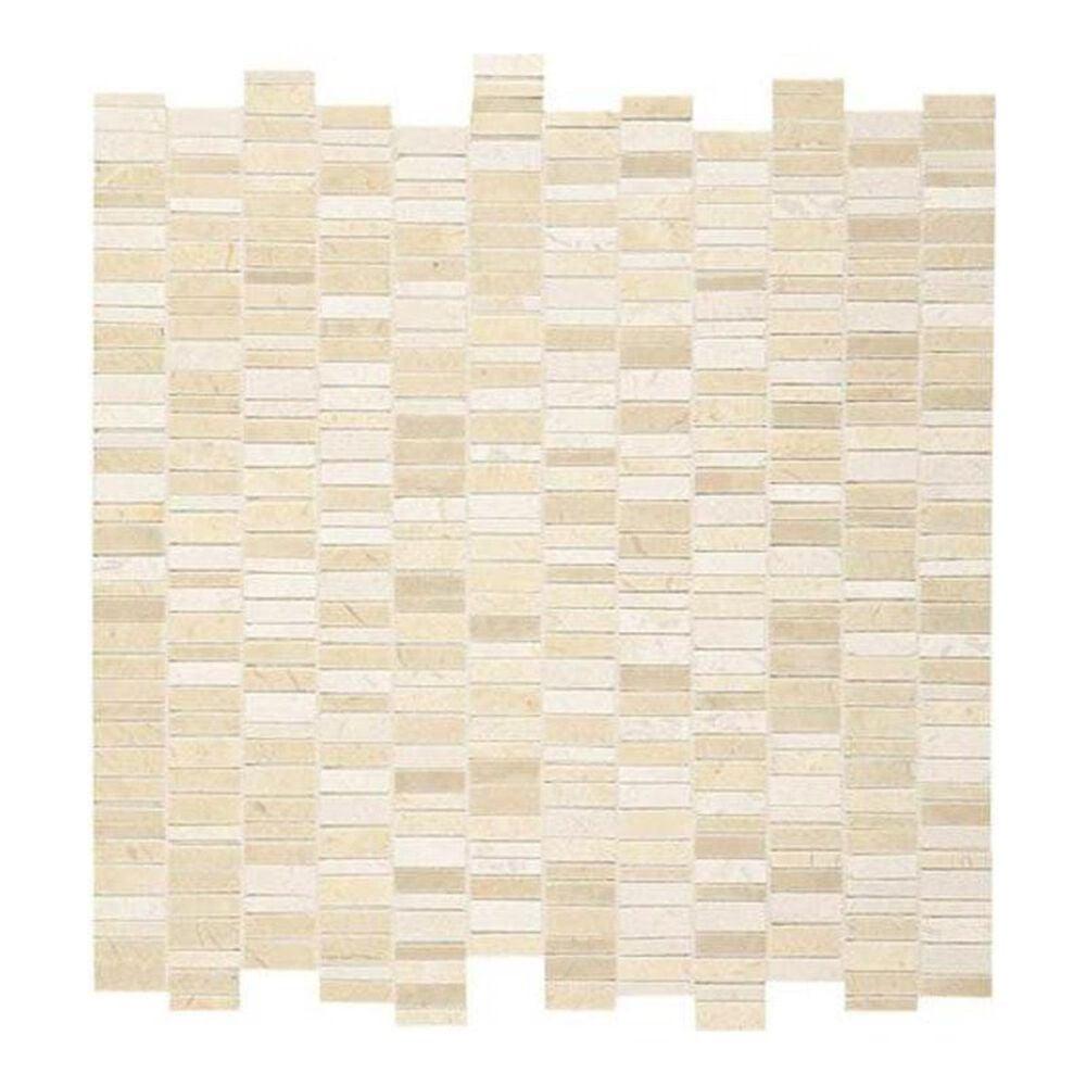 "Dal-Tile Marble Crema Marfil Classic 12"" x 12"" Natural Stone Mosaic Sheet, , large"