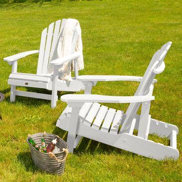 Highwood USA Hamilton Folding Adirondack Chair in White (Set of 2), , large