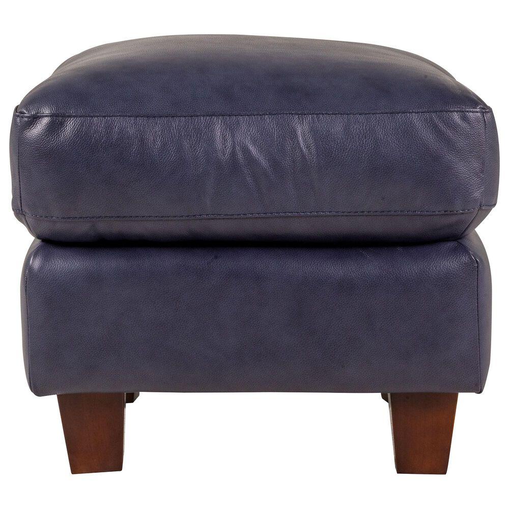 Italiano Furniture Leather Ottoman in Blue, , large