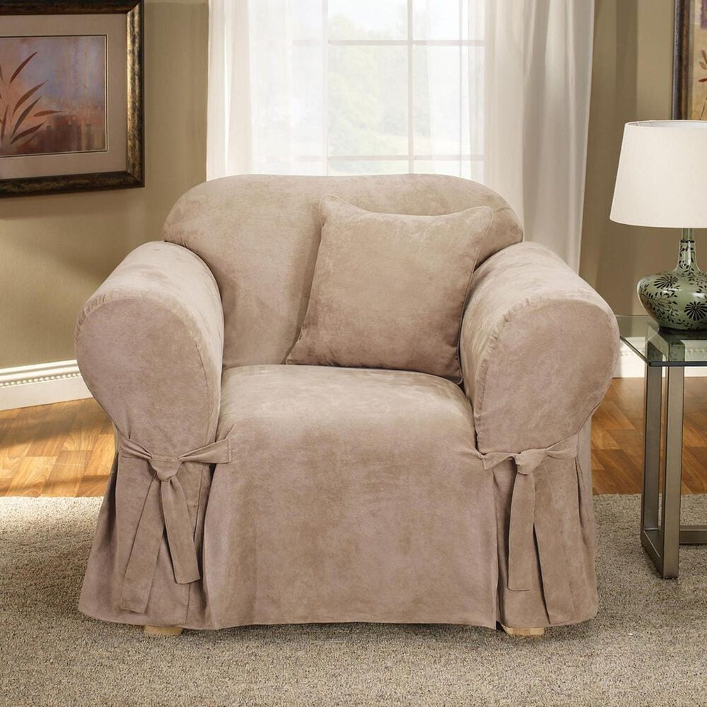 Surefit Chair Slipcover in Taupe, , large