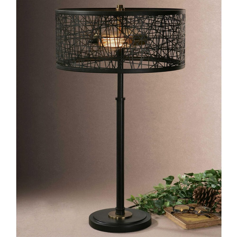 Uttermost Alita Table Lamp in Black, , large