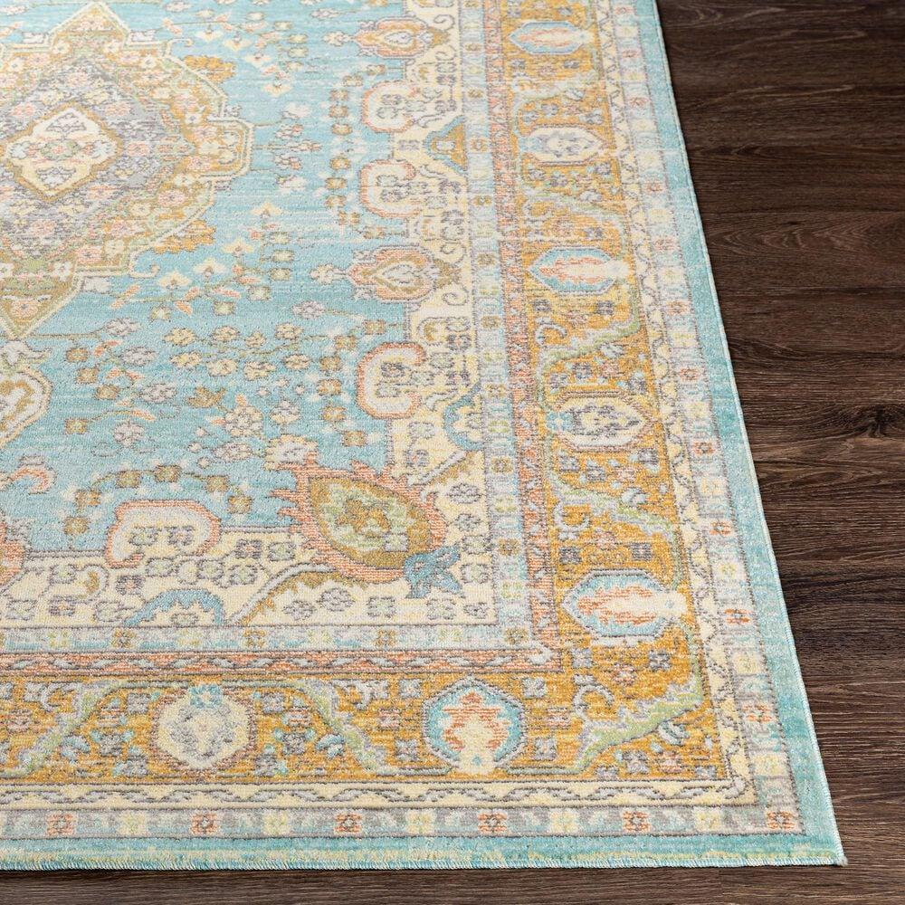 """Surya Bodrum 8'10"""" x 12' Saffron, Gray and Blue Area Rug, , large"""