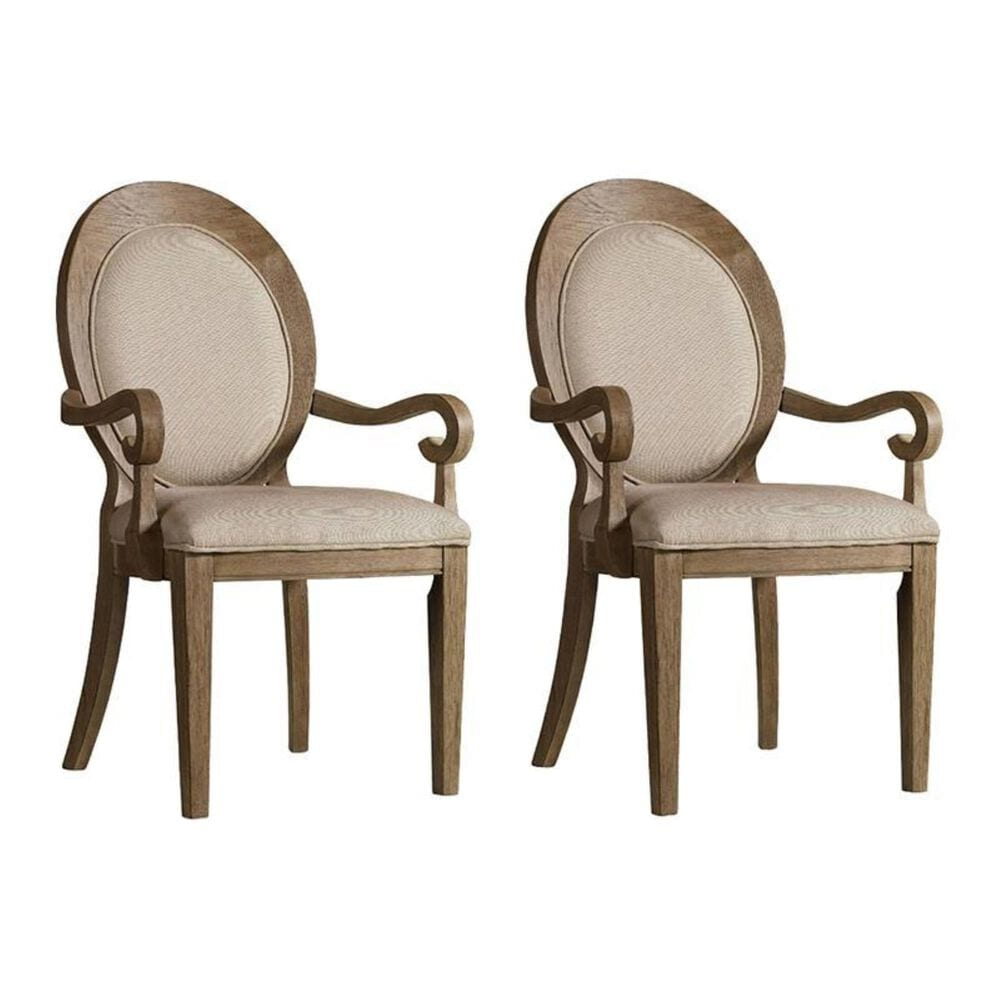 Hooker Furniture Corsica Oval Back Arm Chair (Set of 2), , large