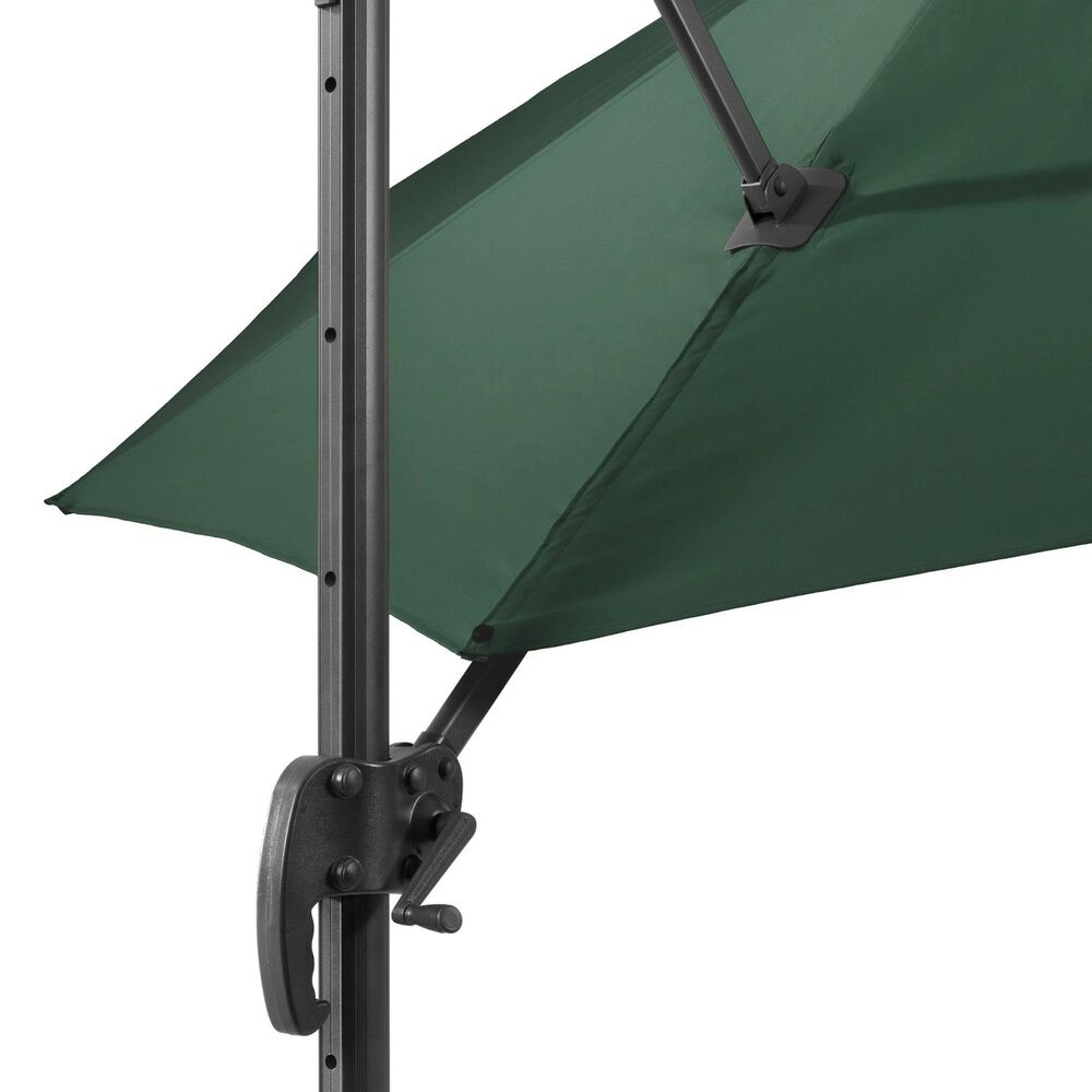 CorLiving Patio Offset Umbrella in Dark Green, , large