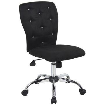 Regal Co. Tiffany Microfiber Chair in Black, , large