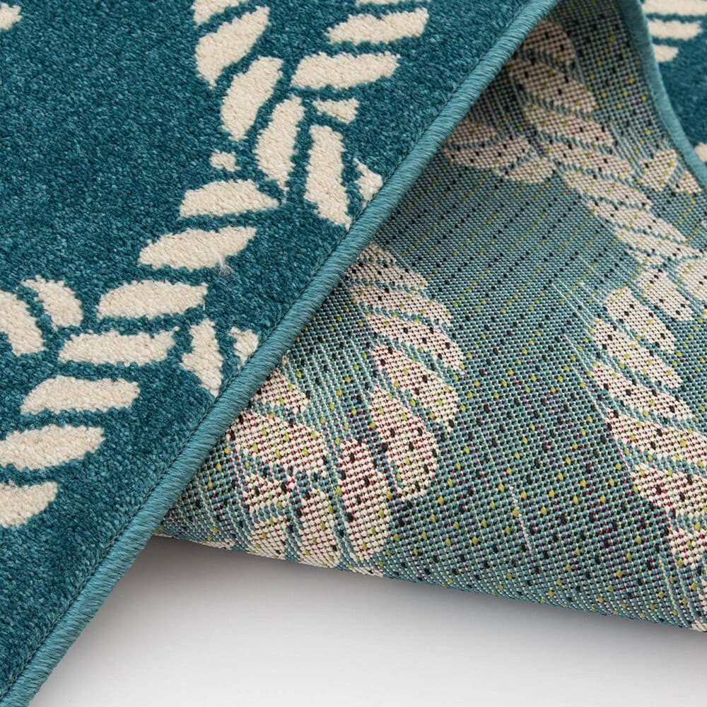 """Central Oriental Terrace Tropic Sailors Knot 2348QN.085 6'7"""" x 9'6"""" Turquoise and Snow Area Rug, , large"""