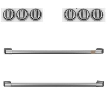 Cafe Handle and Knob Kit for Electric Range in Brushed Stainless, , large