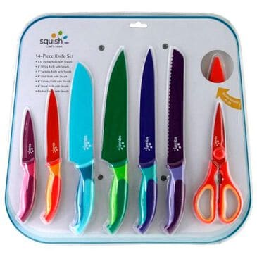 Robinson Home Squish 14-Piece Cutlery Set with Assorted Colors , , large