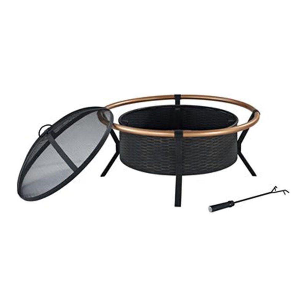 Crosley Furniture Yuma Copper Ring Fire Pit in Black, , large