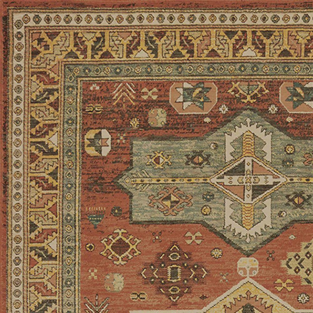 "Oriental Weavers Toscana 9571A 2'3"" x 7'6"" Orange Runner, , large"