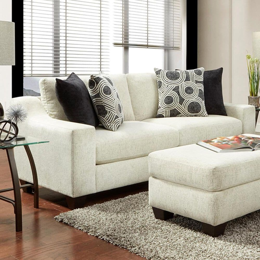 Inspirations Tempe Loveseat with Black Backing in Cream, , large